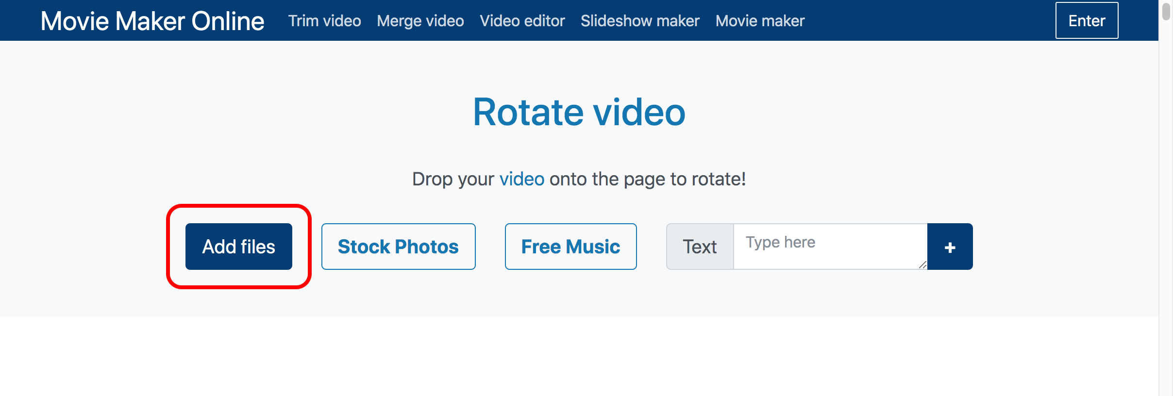 Add a video to rotate
